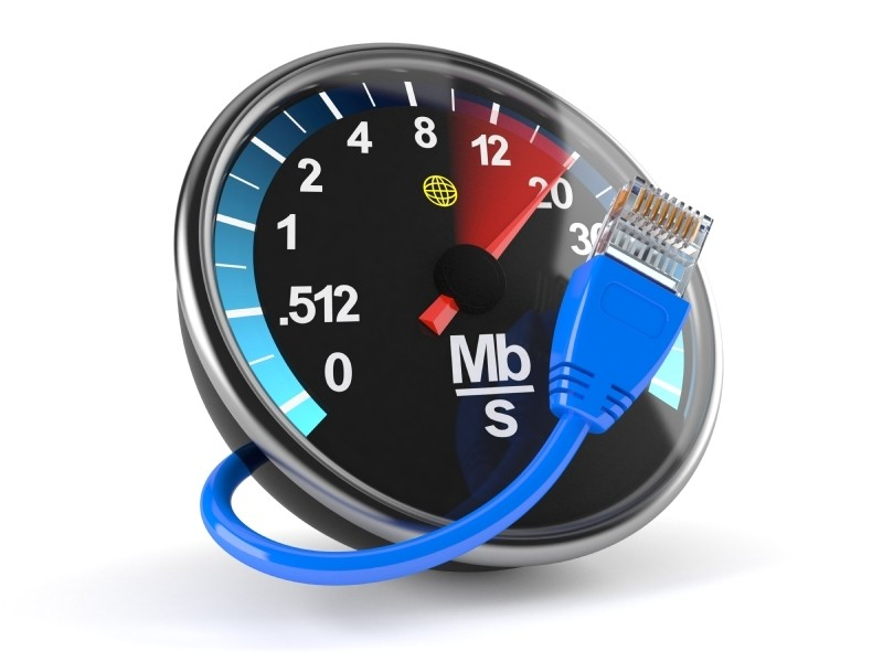 velocidade de banda larga