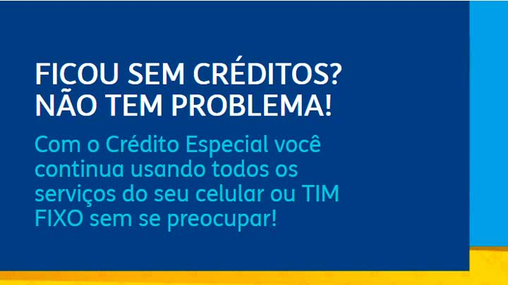 crédito especial TIM
