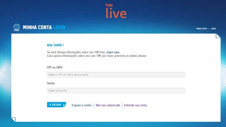 Live. De Login