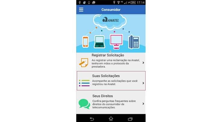 Solicitações App Anatel