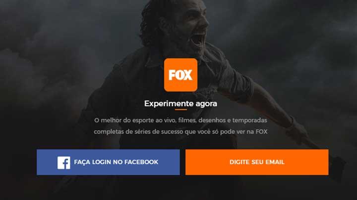 Login FOX Play Brasil
