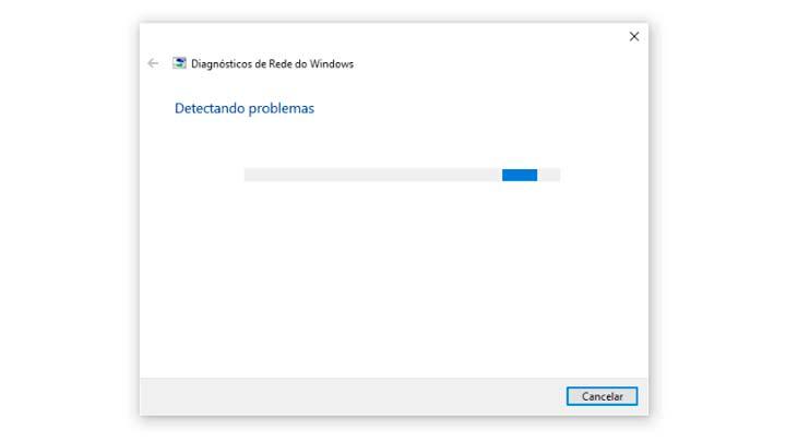 Diagnóstico de Rede do Windows